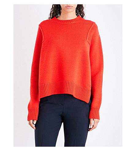 VICTORIA VICTORIA BECKHAM Split-sides wool jumper (Postbox+red