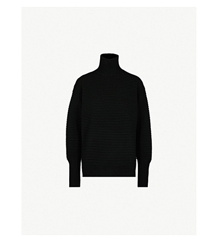 VICTORIA VICTORIA BECKHAM Turtleneck ribbed wool jumper (Black