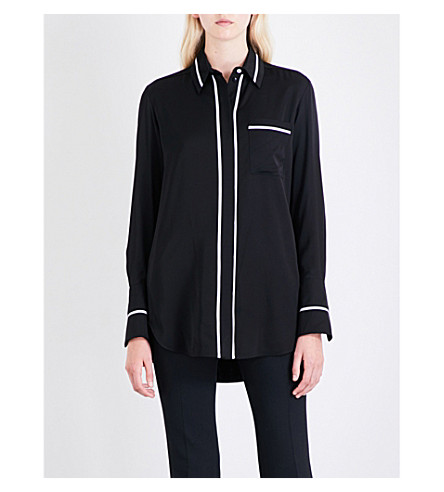 VICTORIA VICTORIA BECKHAM Patch Pocket satin shirt (Black