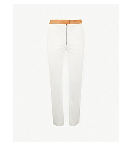 VICTORIA BECKHAM Contrast-pokcet skinny leather pants (White