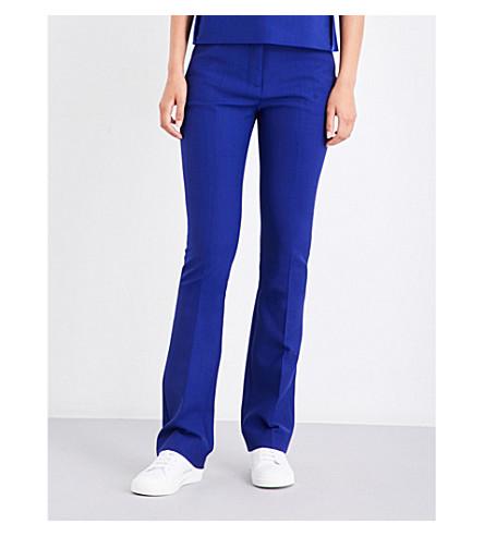 VICTORIA VICTORIA BECKHAM Tailored-fit gabardine trousers (Indigo