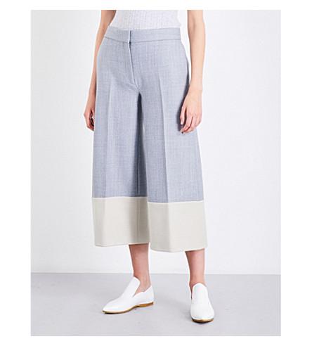 VICTORIA VICTORIA BECKHAM Patch Pocket wide-leg woven culottes (Dark+grey