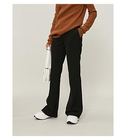 VICTORIA VICTORIA BECKHAM 修身版型高腰绉裤子 (黑色