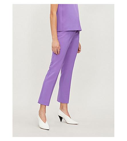 VICTORIA VICTORIA BECKHAM High-rise crepe straight-leg trousers (Potion