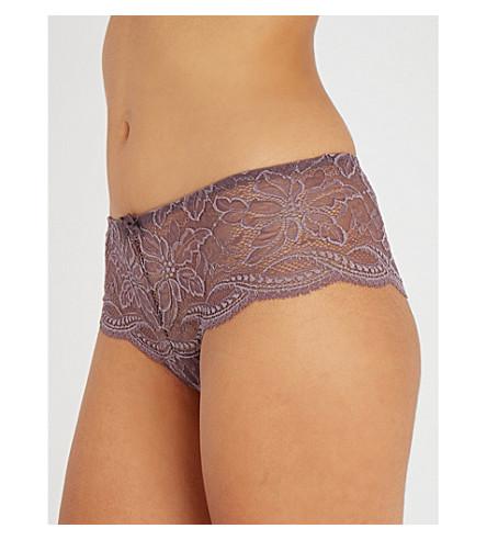 SIMONE PERELE Eden Chic lace shorty briefs (Dove