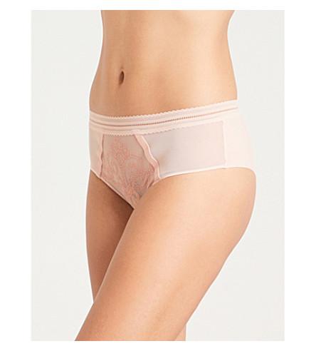 SIMONE PERELE Lima mesh shorty briefs (Ballerina