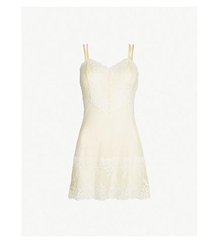 WACOAL Embrace Lace stretch-lace chemise (767+lemon+ivory
