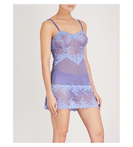 WACOAL Embrace Lace stretch-lace chemise (Purple+hydrangea