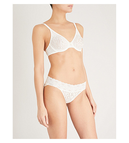 WACOAL Halo stretch-lace moulded underwired bra (Ivory