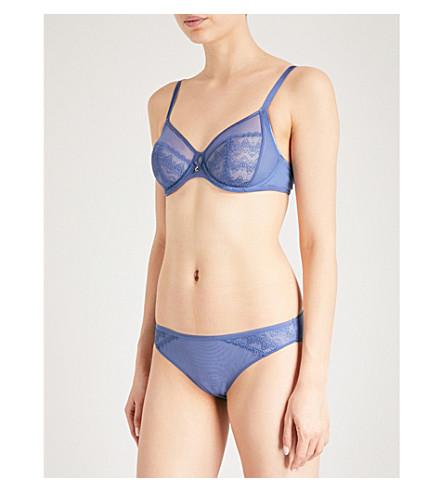 CHANTELLE Révèle Moi 4-part stretch-lace and mesh bra (Jeans