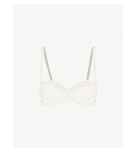 CHANTELLE Champs Elysées stretch-mesh balconette bra (Ivory