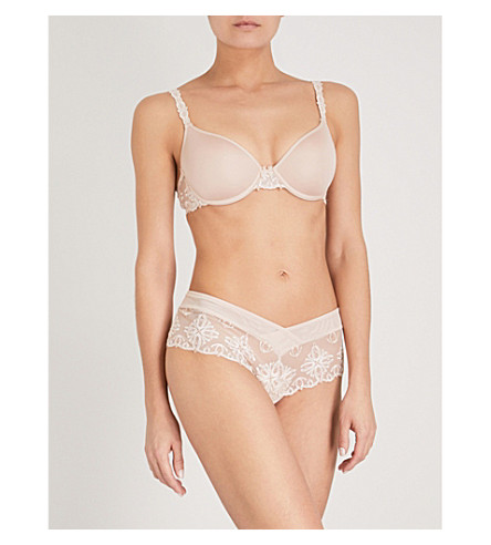 CHANTELLE Champs Elysées Smooth Custom Fit memory foam T-shirt bra (Cappuccino