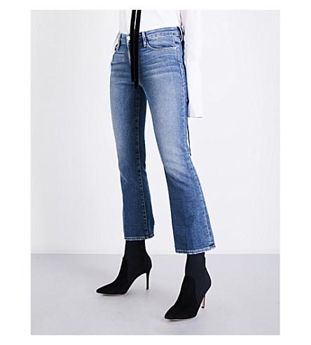 FRAME Le crop high-rise bootcut jeans (Elmont