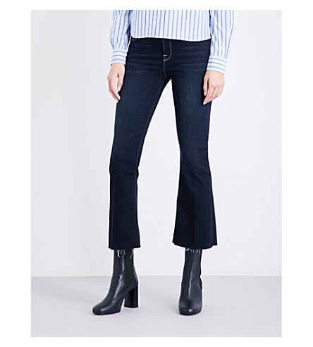 FRAME Le Crop Mini Boot kick-flare high-rise jeans (Cabana