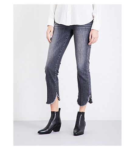 FRAME Le High Straight raw-hem cropped jeans (Bosworth