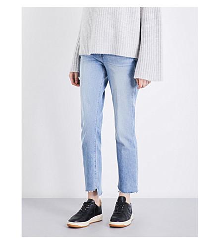 FRAME Le High Straight high-rise stepped-hem jeans (Jones