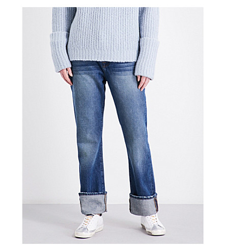 FRAME Straight high-rise jeans (Calvert