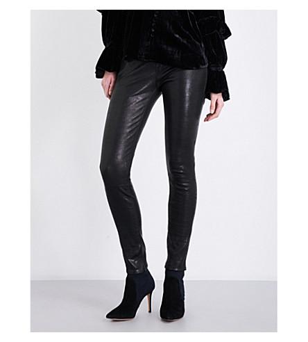 FRAME F jns skinny de jeanne leather (Washed+black