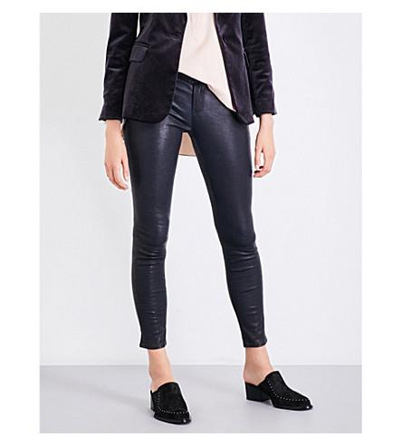 FRAME Le Skinny De Jeanne skinny mid-rise leather jeans (Navy