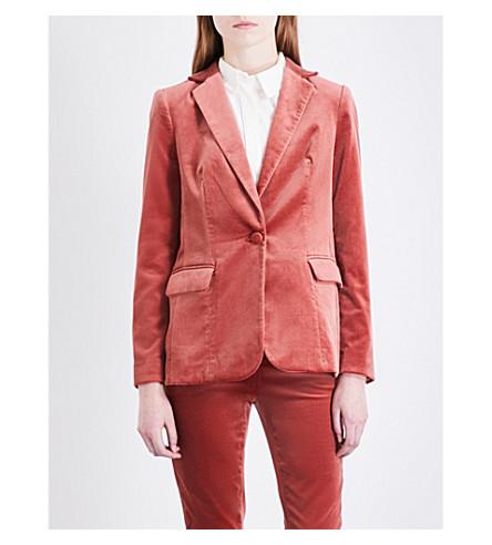 FRAME Tailored-fit velvet blazer (Spice