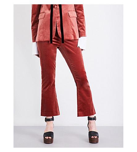 FRAME Le Velvet cropped flared velvet trousers (Spice