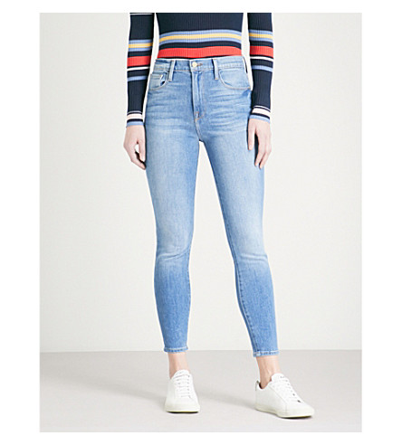 FRAME Ali high-rise cigarette stretch-denim jeans (Opus
