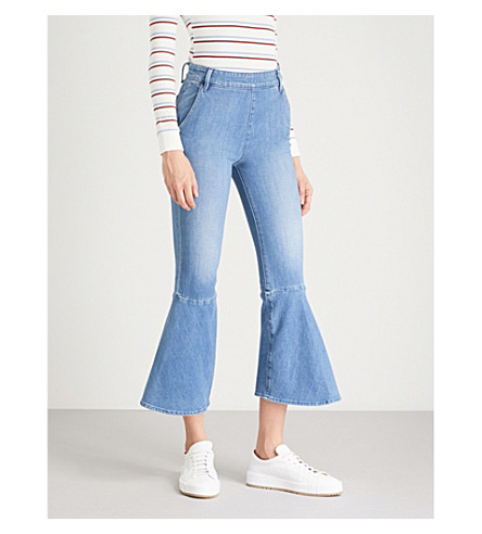 cropped rise FRAME jeans fit streamlined Copeland Flounce Flounce high FRAME wBq0pX7