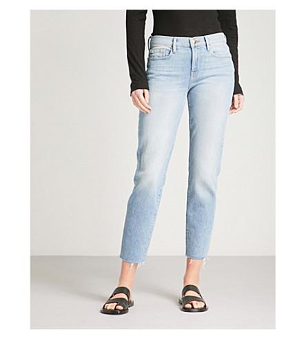 FRAME Le Skinny De Jean straight mid-rise jeans (Pamder+end