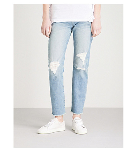 FRAME Le Skinny De Jean straight mid-rise jeans (Voss