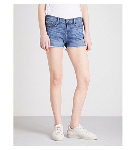 FRAME Le Cut Off stretch-denim shorts (Aldred