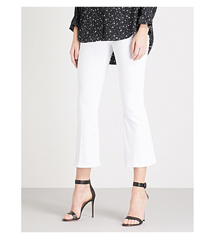 FRAME Le Crop Flared mid-rise jeans (Blanc