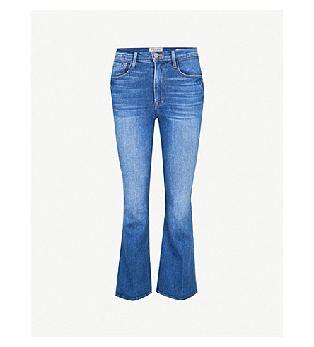 FRAME Le Crop Flared high-rise jeans (Olympus
