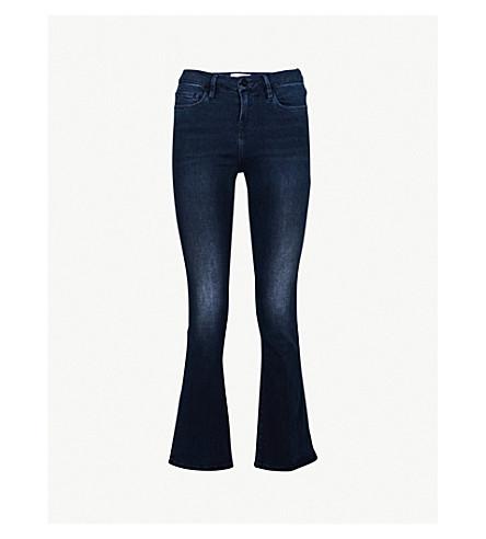 FRAME Le Crop Mini Boot flared mid-rise jeans (Dorset