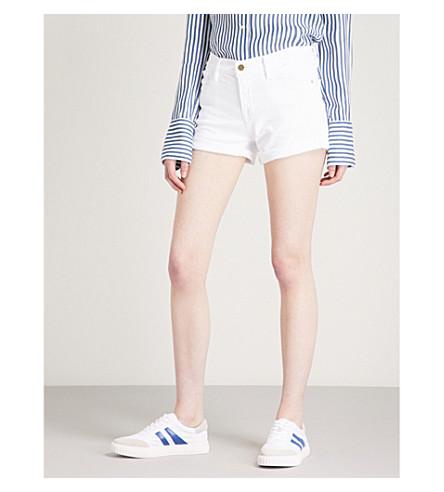 FRAME Le Cut Off low-rise denim shorts (Blanc