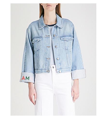 FRAME Logo-embroidered denim jacket (Rydell+ave