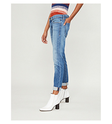 FRAME Le Garcon cropped mid-rise straight jeans (Washburn
