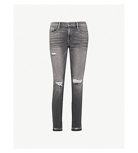 FRAME Le Garcon released-hem straight mid-rise jeans (Stockcross