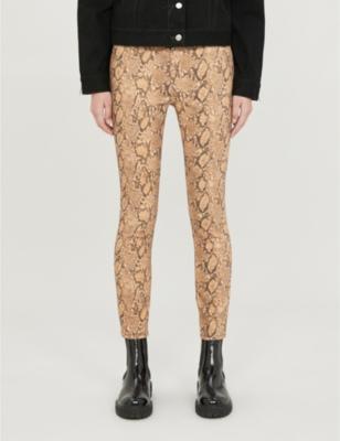 Le High Skinny snakeskin-print high-rise skinny jeans