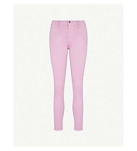 FRAME Le High Skinny high-rise skinny stretch-denim jeans (Faded+light+purple