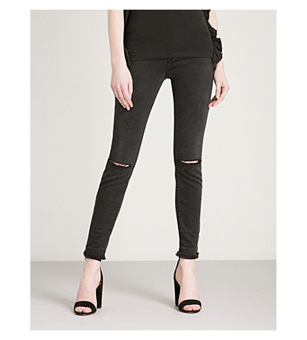 FRAME Le High Skinny distressed skinny high-rise jeans (Malloy