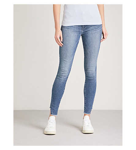 FRAME Le High skinny-fit high-rise jeans (Oakley