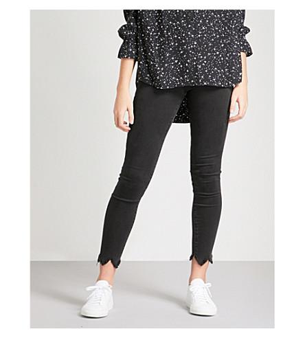 FRAME Le High Skinny frayed-hem skinny high-rise jeans (Whittier