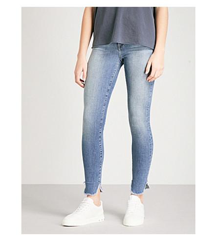 FRAME Le High Skinny petal-hem skinny high-rise jeans (Hamerton