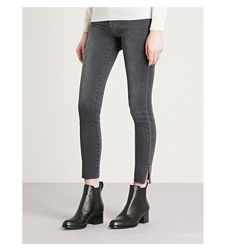 FRAME Le High Skinny split-hem skinny high-rise jeans (Fallon