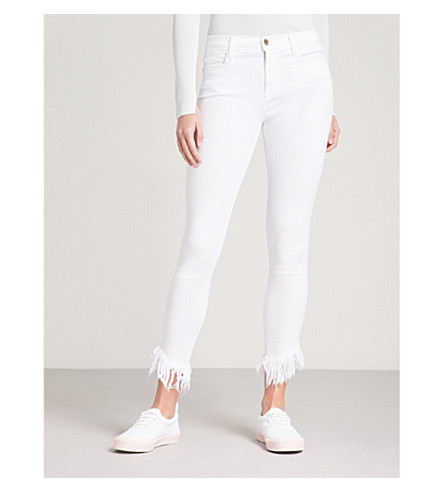FRAME Le High skinny-fit high-rise jeans (Blanc