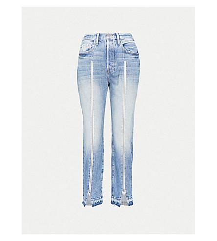 FRAME Le Original zipped skinny high-rise jeans (Fairplex