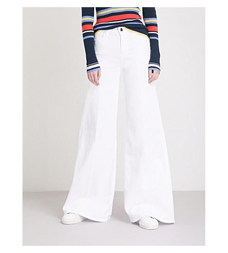 FRAME La Palazzo wide-leg high-rise jeans (Blanc