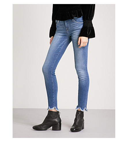 FRAME Le Skinny de Jeanne frayed-hem skinny mid-rise jeans (Blakely