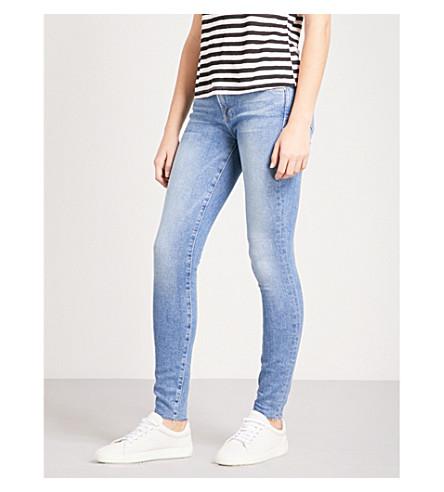 FRAME Le Skinny Raw Edge skinny mid-rise jeans (Josie