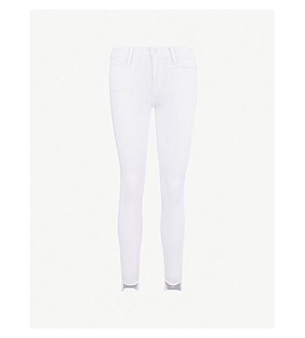 FRAME Le Skinny de Jeanne skinny mid-rise jeans (Blanc